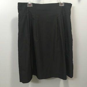 Black H&M pleated skirt size 16